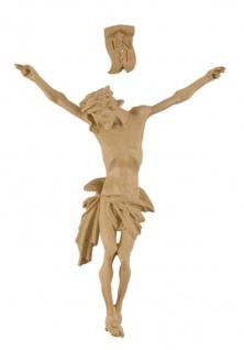 Corpus Jesus Christus mit INRI, Holzton hell 12 cm