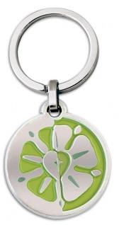 Schlüsselanhänger Luther-Rose grün 7 cm Christlich