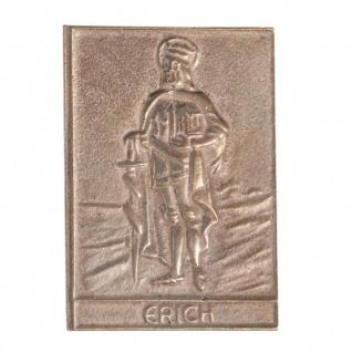 Namenstag Erich 8 x 6 cm Bronzeplakette