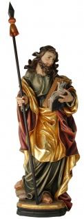 Heiliger Thomas Apostel Heiligenfigur Holz geschnitzt Südtirol Schutzpatron