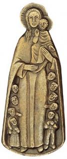 Schutzmantelmadonna 13 x 5 cm Bronzerelief