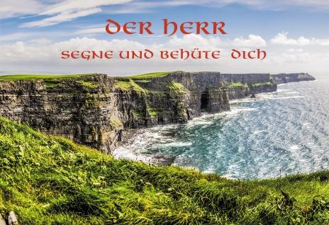 Klappkarte Der Herr segne und behüte dich (6 St) Irische Küste Segenswunsch