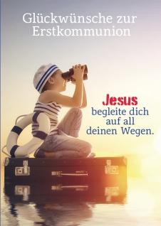 Glückwunschkarte Zur Erstkommunion (6 Stck) Kommunion Grußkarte Kuvert