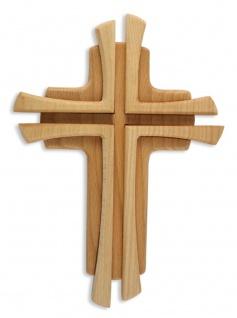 Wandkreuz Buche massiv zweifarbig gebeizt Holzkreuz Kreuz 35 cm Kruzifix
