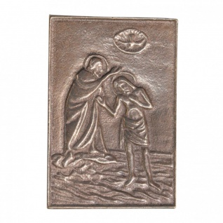 Namenstag Taufe Jesu 8 x 6 cm Bronzeplakette Namenstag Geschenk
