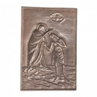 Namenstag Taufe Jesu 8 x 6 cm Geschenk Bronzerelief Wandbild Schutzpatron