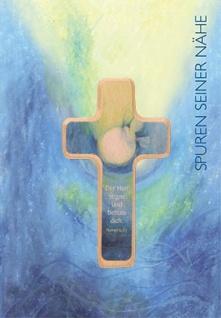 Kommunionkarte Der Herr segne Holzkreuz Erstkommunion Kuvert Grusskarte