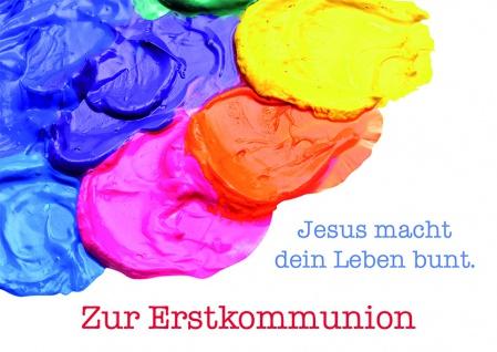 Kommunionkarte Zur Erstkommunion (6 St) Glückwunschkarte Kommunion Grußkarte