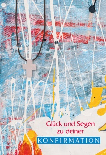 Glückwunschkarte Konfirmation Rosenquarz Edelstein-Anhänger 5 Stck Kuvert
