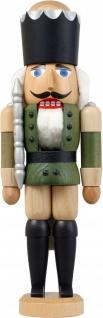 Nussknacker König Esche lasiert grün 29 cm Holz-Figur Handarbeit Erzgebirge