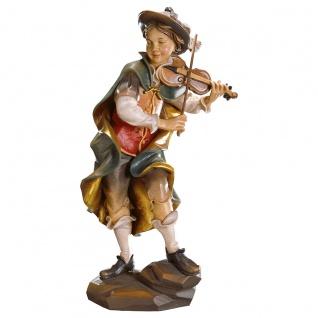 Geigenwanderer Holzfigur geschnitzt Südtirol Profane Figur