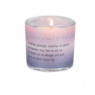 Glaswindlicht Gute Mächte Teelicht Kerzenhalter Geschenkbox Glas für Windlicht