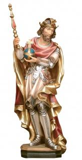 Heiliger Erich mit Reichsapfel und Zepter Holzfigur geschnitzt Südtirol Patron