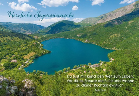Glückwunschkarte Geburtstag 6 St Kuvert Bibelwort Psalm Segen-Wunsch Gratulation