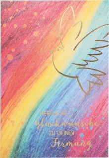 Glückwunschkarte Firmung Heiliger Geist Taube 6 St Kuvert Naturpapier