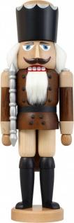 Nussknacker König Esche lasiert braun 39 cm Holz-Figur Handarbeit Erzgebirge