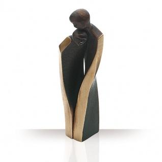 Bronzefigur Geborgenheit 14 cm Skulptur Kött-Gärtner Liebespaar Figur Regalfigur