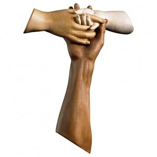 Kreuz der Freundschaft Tau Wandkreuz Holzkreuz geschnitzt Südtirol Kruzifix