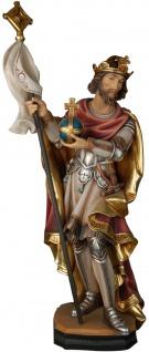 Heiliger Ferdinand Reichsapfel und Fahne Holzfigur geschnitzt Schutzpatron