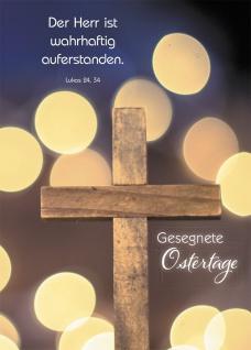 Postkarte Gesegnete Ostertage (10 St) Kreuz Lukas Lutherbibel Grußkarte