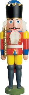 Nussknacker König rot 29 cm Holz-Figur Handarbeit aus Seiffen im Erzgebirge