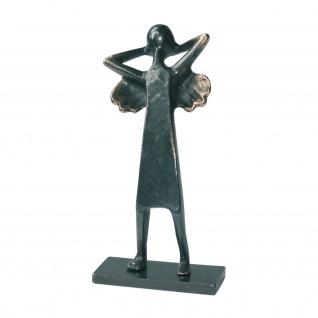 Engel Bronzefigur Feierabend Engelchen 12 cm Schmelter Raimund Bronzeskulptur