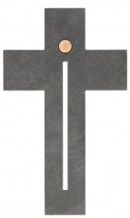 Wandkreuz Kreuz Freude Kruzifix Schiefer Bronze-Element Gregor Telgmann