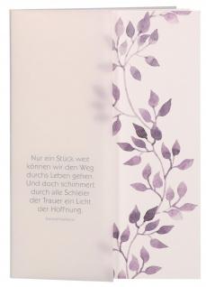 Kondolenzkarte 6 St Kuvert Kardinal Faulhaber Naturpapier Transparentumleger