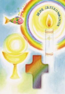 Kommunionkarte Handschmeichler Deine Erstkommunion (3 Stck) Grußkarte Kuvert