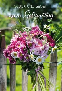 Glückwunschkarte Geburtstag Blumenstrauß Psalm 6 St Kuvert Bibel Segen Freude