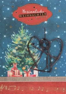 Weihnachtskarte Engelanhänger aus Draht Besinnliche Weihnachten (5 Stück) Kuvert