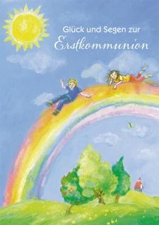 Glückwunschkarte Irischer Segenswunsch zur Erstkommunion Kuvert 6 Stück