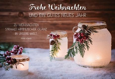 Glückwunschkarte Frohe Weihnachten und ein gutes neues Jahr (6 Stück) Kuvert