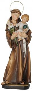Heiliger Antonius von Padua Holzfigur geschnitzt Südtirol Schutzpatron
