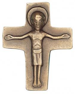 Wandkreuz Corpus Bronzekreuz Kreuz 8x6 cm Körper Korpus Kruzifix Abtei