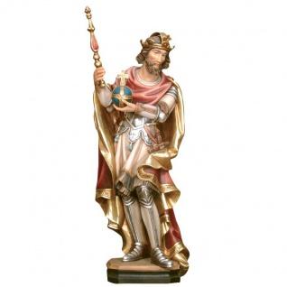 Heiliger Olaf von Norwegen Holzfigur geschnitzt Südtirol Schutzpatron Norwegens