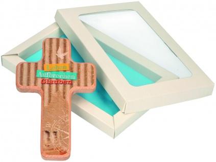 Holzkreuz Leben, Aufbrechen, Glauben 18 cm Firmung Wandkreuz Kruzifix Kreuz