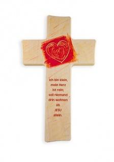Kinderkreuz Ich bin klein.. Buche Farbdruck 15cm 20cm Wandkreuz Holz Kreuz Gebet