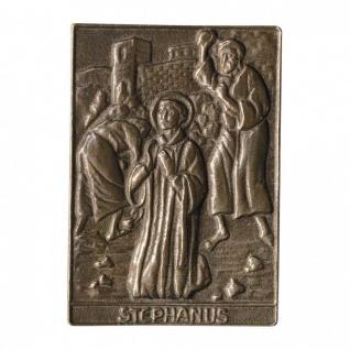 Namenstag Stephanus 8 x 6 cm Bronzeplakette Bronzerelief Wandbild Schutzpatron