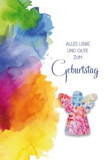 Glückwunschkarte Geburtstag Engel-Glasmagnet 5 St Kuvert Glück Farben