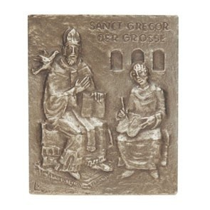 Namenstag Gregor 13 x 10 cm Geschenk Bronzerelief Wandbild Schutzpatron