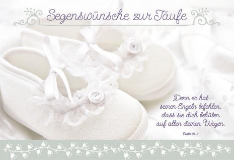 Taufkarte Segenswünsche zur Taufe (6 Stck) Set Glückwunschkarte Tauffeier Kuvert
