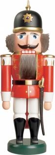 Nussknacker Soldat rot 37 cm Holz-Figur Handarbeit aus Seiffen im Erzgebirge