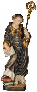 Benediktiner Abt Heiligenfigur Holz geschnitzt handbemalt Südtirol
