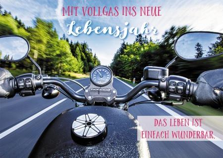 Postkarte Geburtstag Motorradfahrer 10 St Adressfeld Lebensfreude Abenteuer