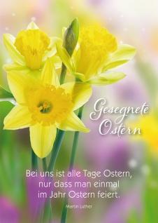 Postkarte Martin Luther Gesegnete Ostern Osterglocken Adressfeld 10 Stck