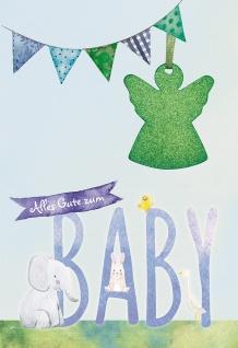 Glückwunschkarte Geburt Engel-Anhänger 5 St Kuvert Leben Schutz Begleitung