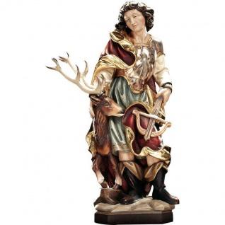 Heiliger Eustachius Holzfigur geschnitzt Südtirol Schutzpatron Heiligenfigur