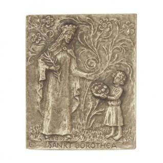 Namenstag Dorothea Bronzeplakette 13 x 10 cm Bronzerelief Wandbild Schutzpatron