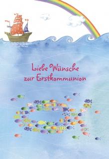Kommunionkarte Liebe Wünsche Erstkommunion (6 St) Glückwunschkarte Kommunion